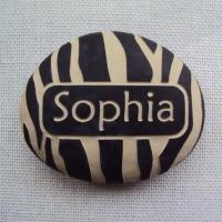 Quality Custom Name Stone, Engraved Name Rock Gift for New Baby, Naming Day AP33 for sale