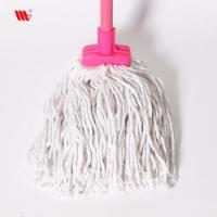 Wholesale 2063-SST square head Cleaning pure cotton thread Mop with steel stick Manufactures