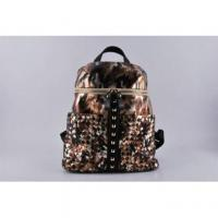 New Design Fashion PU Desert Camo Weave Rivet Backpack (LY060216) Manufactures