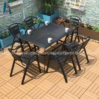 Buy cheap Outdoor Dining Outdoor Restaurant Barstool Polywood Barstool Leisure Cafe Bar Chair from wholesalers