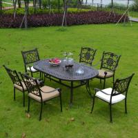 Buy cheap Outdoor Dining Cast Aluminium Garden Furniture Dining Table and Chairs Item No.: PL-0044 from wholesalers