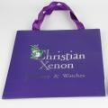 Quality Custom Shopping Luxury Purple Christmas Paper Gift Bag for sale