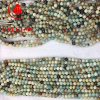 Amazonite Multicolor A 12mm Round Beads Manufactures