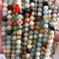 Amazonite Multicolor AA 4mm Round Beads Manufactures
