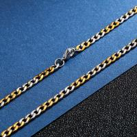 China 3mm to 12mm wide mens stainless steel cuban link choker chain necklace hip hop jewelry wholesaler on sale
