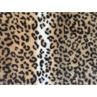 Buy cheap Knitted Fabrics BM1001F-100%polyester base flocked animal print fabric from wholesalers