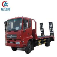 Buy cheap 10 Ton Dongfeng Flatbed Truck For Excavator Transport from wholesalers