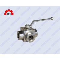 Buy cheap female thread 3 way high pressure ball valveL type from wholesalers
