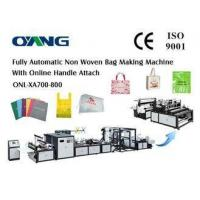 Non Woven Fabric / Non Woven Shopping Bag Making Machine With 14 Sets Ultrasonic Manufactures