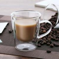 China Double Walled Thermo Insulated Cups, Latte Cappuccino Espresso Glassware on sale