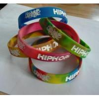 Buy cheap engraving mix color silicone wristband from wholesalers