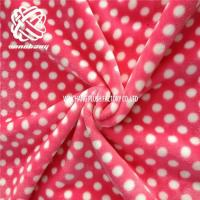China printed flannel fleece polyester double knit fabric on sale