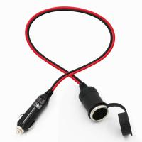 Car charger cigar cable car cigarette lighter plug male to female Manufactures