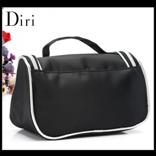 Quality High quality portable black cosmetic bag for makeup for sale