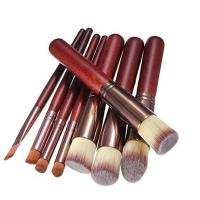 Buy cheap Professional wood handle kabuki 8 Pieces Makeup Brushes Set from wholesalers