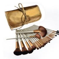 Buy cheap 24pcs Synthetic makeup Brushes Set with Golden PU Leather Case from wholesalers