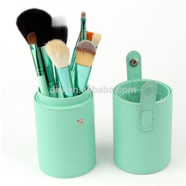China 12Pcs Professional Makeup Brush Set with Leather Cup Holder Case