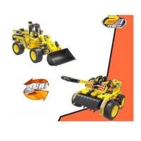 QIHUI mini bulldozer mechanical snap together abs manufacture action figures block toy Manufactures