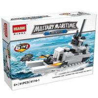 HSANHE best large plastic warship building block toy for babies Manufactures