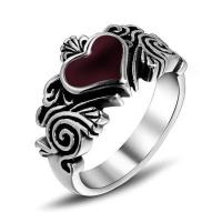 Buy cheap Wholesale Stainless Steel Red Heart Biker Jewelry Rings #SA367 from wholesalers