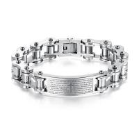 Buy cheap Wholesale Stainless Steel Motorcycle Chain Bracelet with Bible #GS970 from wholesalers
