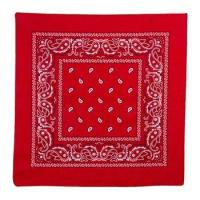 100% Cotton Red Cowboys Classic Bandana Manufactures