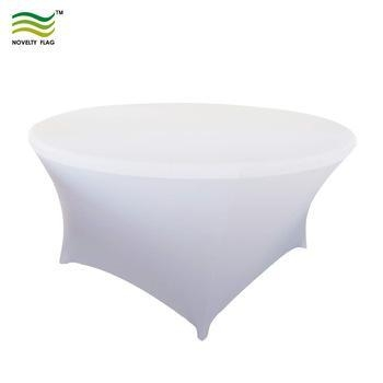Quality Tablecloths Circular Fitted Custom DesignRound Spandex Table Cover for sale