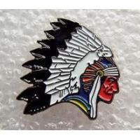 Buy cheap Red Indian Chief Head enamel pin / lapel badge Biker Cowboys & Indians Chieftain from wholesalers