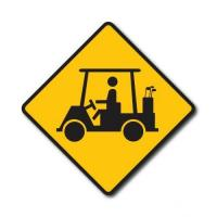 China Construction Signs W11-11 Golf Cart on sale
