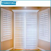 White Decorative Plastic Shutters And House Dining Room Fireproof Louver Manufactures