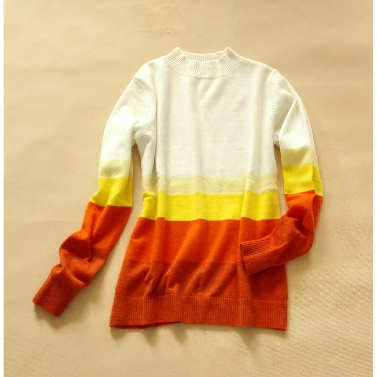 Buy cheap 5-color stripe cashmere sweater from wholesalers