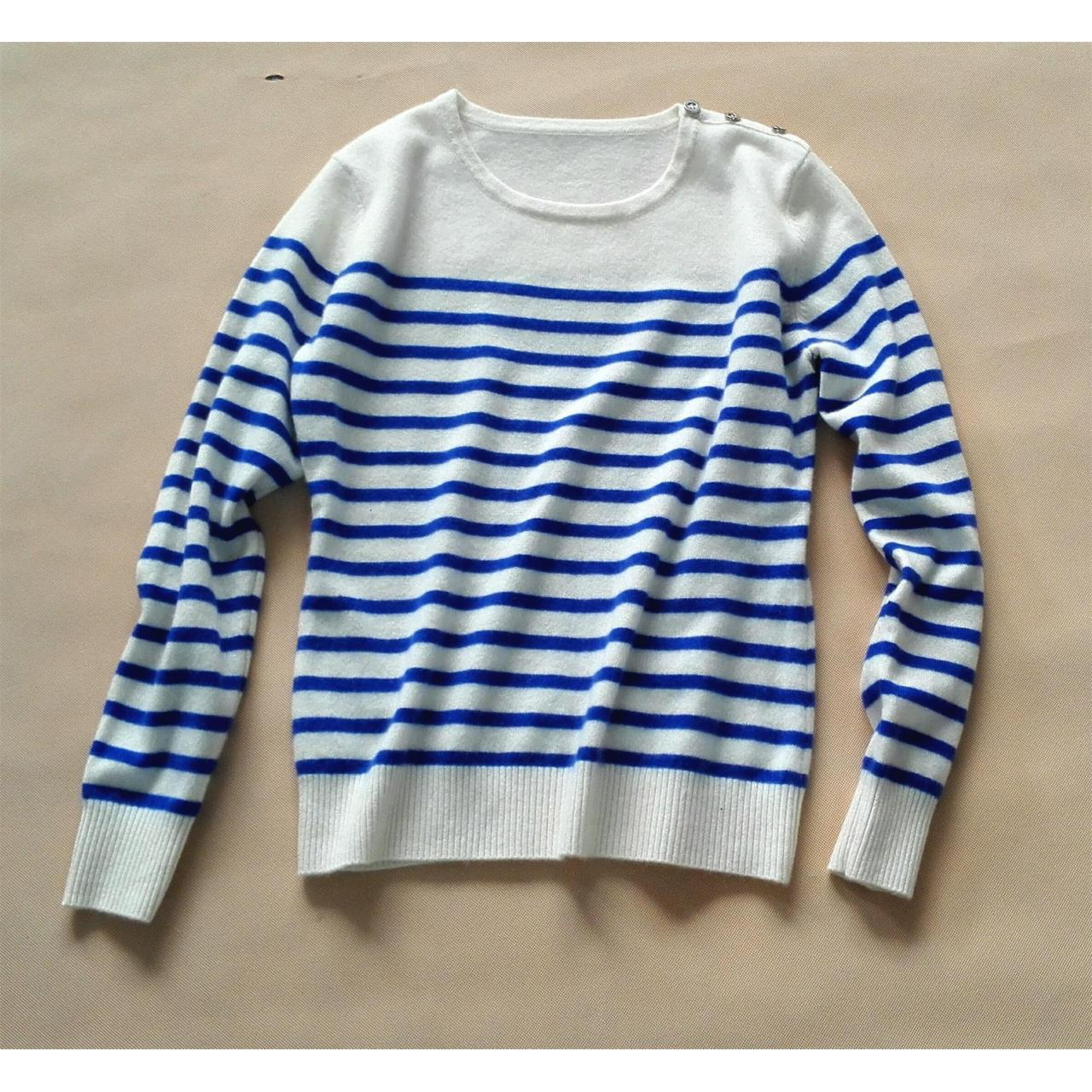 Buy cheap navy stripe cashmere sweater from wholesalers