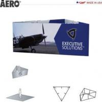 Trade Show Signs Aero Hanging Banner Sign  Triangle Manufactures