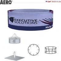 Trade Show Signs Aero Hanging Banner Sign  Round Manufactures
