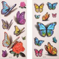 Buy cheap OEM party prop sexy 3D butterfly temporary tattoo from wholesalers