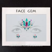 Face stickers Hot selling OEM face gems sticker