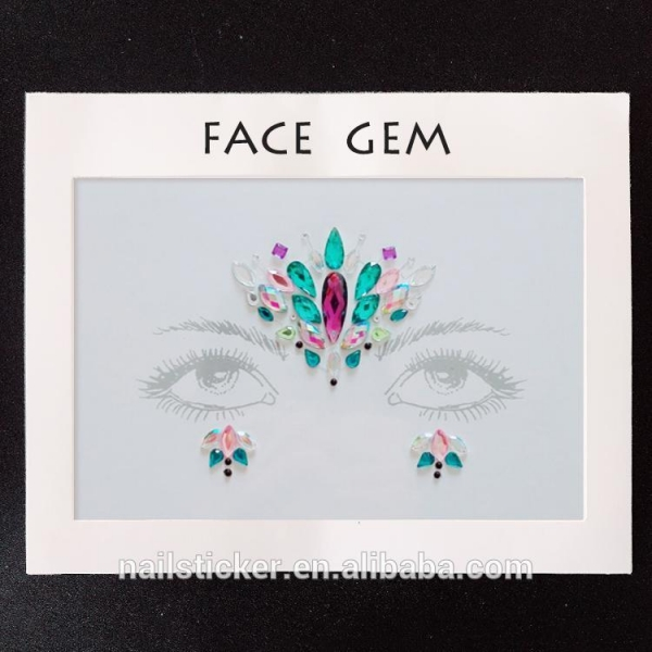 Quality Face stickers Hot selling OEM face gems sticker for sale