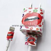 Custom DIY kiss lip vinyl iPhone charger sticker wrap manufacturer Manufactures
