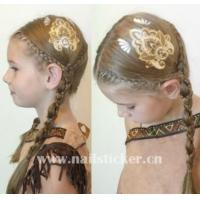 Custom ODM gold and silver temporary hair tattoos metallic hair tattoo factory Manufactures