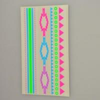 Custom florescent colorful neon temporary body tattoo sticker supplier Manufactures