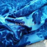 100% polyester burn out velvet fabric Manufactures