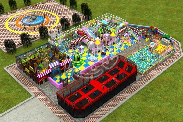 Quality Outdoor Playground Multifunctional Kids Indoor Playground for sale
