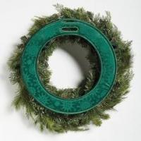 Buy cheap Chistmas series Green Snowflake Patterned Christmas Wreath Door Saver from wholesalers