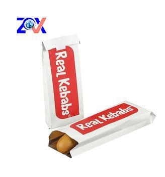 Quality aliminium foil kebab french fries paper bag for sale