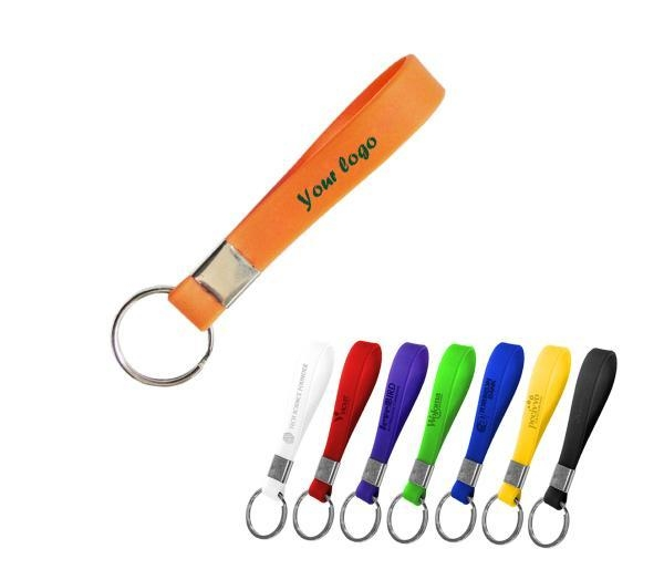 Quality Colorful Silicone Bracelet Key Chain-ADWD5014 for sale