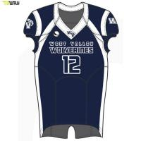2018 american cheap custom sublimation print blank football jersey made in china Manufactures