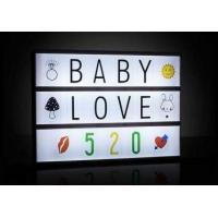 Buy cheap High Quality DIY Cinematic Letters LED light box from wholesalers