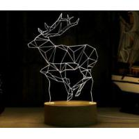 Buy cheap Wooden Base 3D Illusion LED Night Light from wholesalers