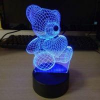 Buy cheap Touch Dimmable RGB Color Changing 3D Illusion LED Night Light from wholesalers