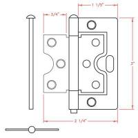 Buy cheap 3inch Butterfly hinge from wholesalers
